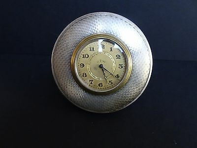 Art Deco Silver Framed Desk Clock.  1925