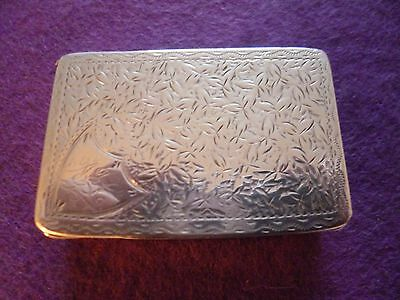 New Listing - A Fabulous Designed Victorian Solid Silver Snuff Box, Engraved