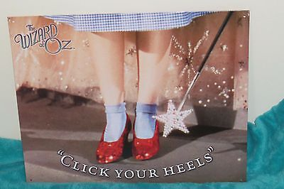 WIZARD of OZ CLICK YOUR HEELS METAL SIGN Dorothy's Red Shoes