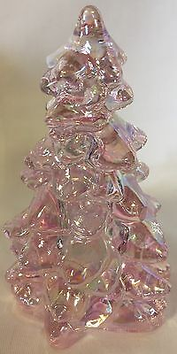 Christmas Holiday Tree - Mosser USA - Pink Carnival Glass - Medium 5 1/2""