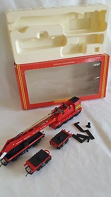 Hornby R197 75 Ton Operating Breakdown Crane Set Red Complete Mint In Box