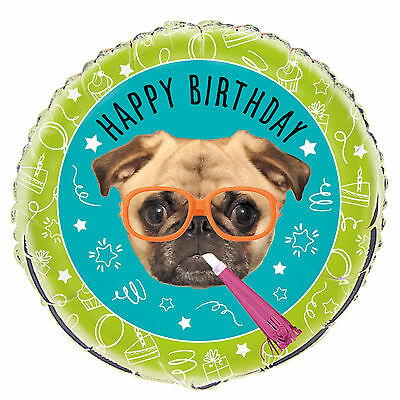 "Pug | Dog | Happy Birthday 18"" Foil 