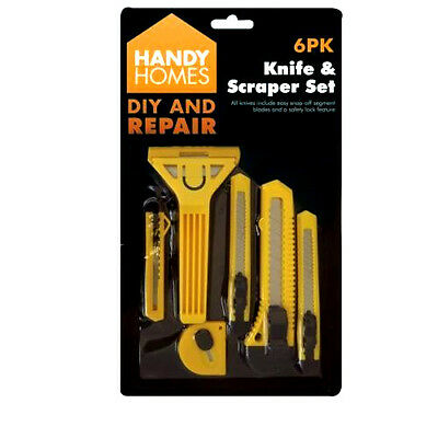Knife & Scraper Set. Utility Knives With Snap Off Blades.Paper& Board Cutter Set