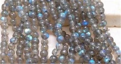 Natural 6mm Labradorite Round Gemstone Loose Bead 15''AAA