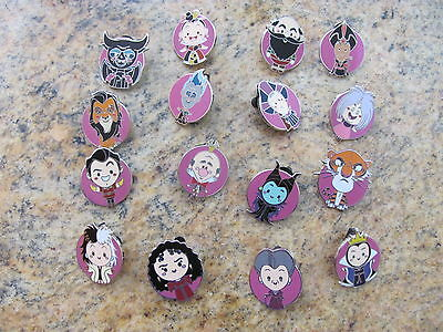 Disney Trading Pins World of Evil Mystery Pack complete set of 16 pins