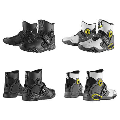 Icon Accelerant Motorcycle Street Leather Boots