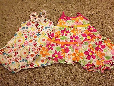 Toddler girl 4-piece lot summer sundresses with underpants size 18 months