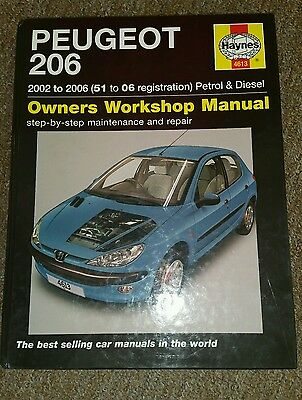 peugeot 206 owners manual/ 2002 to 2006/petrol and diesel.