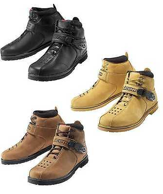 Icon Super Duty 4 Motorcycle Biker Leather Riding Boots