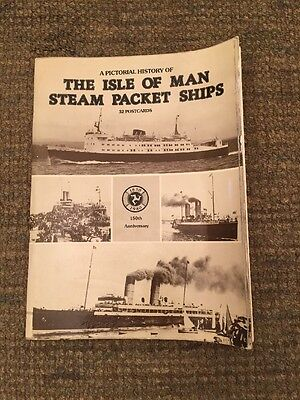 Isle Of man Steam Packet Ships Postcard Book