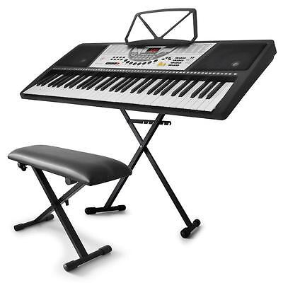 'keybiza' Electric Keyboard Set 61-Key Digital Piano Stand Stool For Beginners