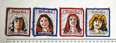 RARE STATUS QUO PATCHES, FULL SET OF 4,  Rossi, Parfitt, Coghlan, Lancaster,