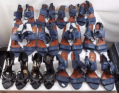 Job Lot Womens Heeled Sandals  Various Colours Styles Sizes 3-8 22 Pairs All New
