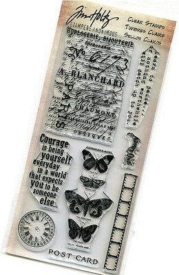 Tim Holtz Anonymous Clear Stamps ~French Memories