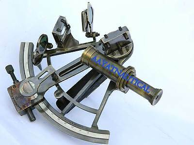 8Inch Solid Brass Sextant Henry Barrow & Co. London-Marine Gift