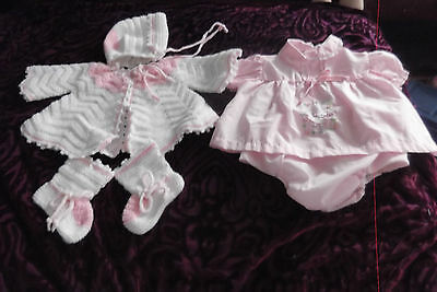 Vintage  5 piece Baby girls new sweater set lotgreat deal