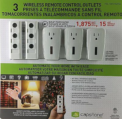 Wireless Remote Control Outlets - Customizable Remote Control Labels Included