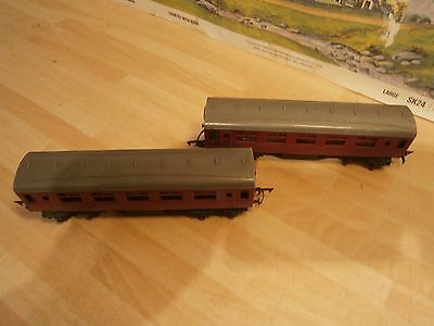 Triang Oo Gauge Lms Maroon Short Coaches