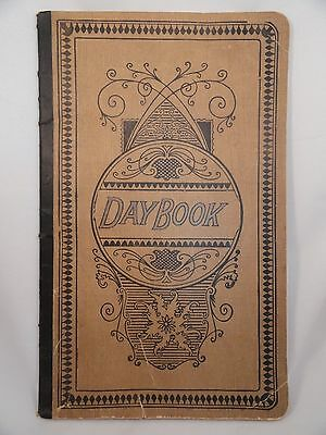 Vintage Day Book Ledger Account Journal 12 inch Blank 87 Pages Paperback