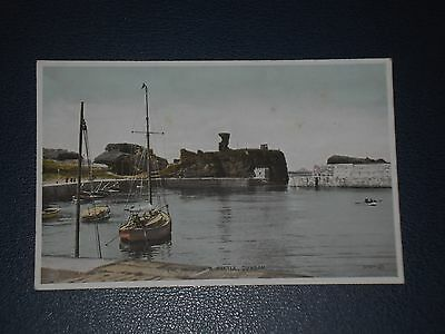 Postcard The Harbour And Castle Dunbar, Unused