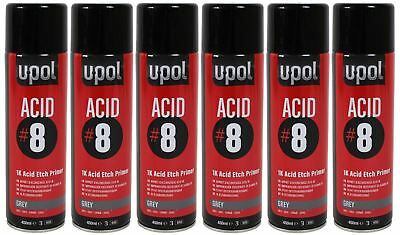 UPOL Acid 8 Etch Primer Box of 6 Acid/Al U P O L ACIDAL