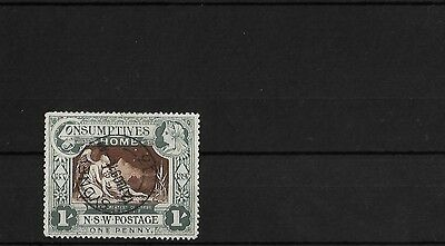 New South Wales 1/- Consumptives Fine Used Cto, Sg280, Cat £50