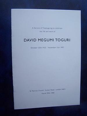 David Megumi Toguri - Celebration of Life program - Social History - Ephemera