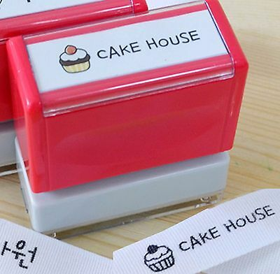 Cupcake Customize fabric transfer Stamps customise Name stamp DIY Cotton labels