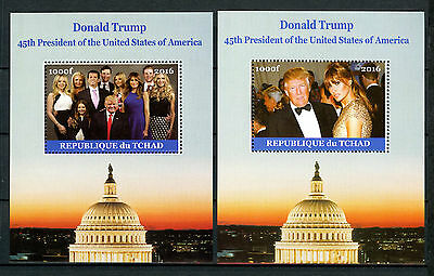 Chad 2016 MNH Donald Trump & Family 45th US Presidents 2x 1v M/S Ivanka Stamps
