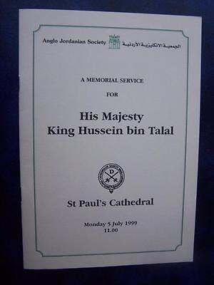 King Hussein bin Talal - Celebration of Life program  Social History - Ephemera