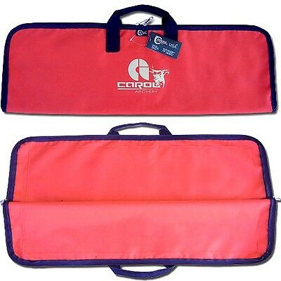 Carol Archery Traditional Fabric Bow Bag / Cover / Case Fbc-13827Red