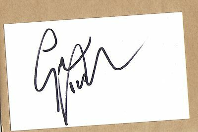 gareth southgate england manager 5x3 hand signed white index card