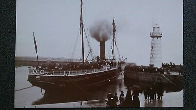 Postcard steamer leaving harbour, Donaghadee Co Down