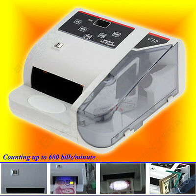 Money Bill Counter Fast Counting Machine Counterfeit Detector UV & MG Cash Bank