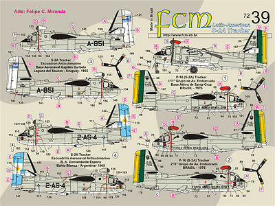 S-2A Tracker Latin American Fcm Decals 7239 1/72