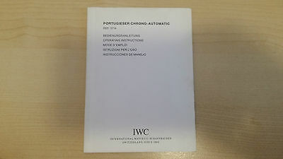 Iwc Portugieser Chrono Automatic Ref. 3714 Operating Instruction Booklet