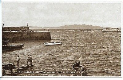 Old Real Photo Postcard, The Harbour, Saltcoats.      153