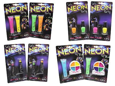 Neon Party Makeup Face Body Paint Lipstick Nail Polish Varnish Lipstick Set