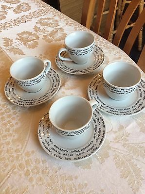 Finesse fine porcelain Coffee Cups set of 4