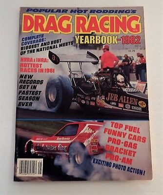 Vintage POPULAR HOT RODDING'S DRAG RACING YEARBOOK 1982 Magazine!