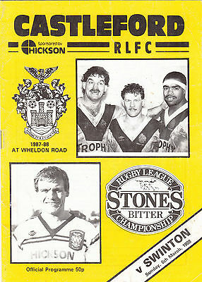 Castleford v Swinton 1987/8