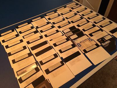 "LOT OF 50 5.25"" Floppy Disks 5-1/4 Used Commodore 64 128 Computer"