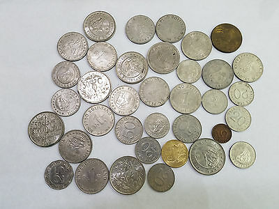 Vintage 1930s - 1970s BOLIVIA LOT OF 36 COINS - 4847