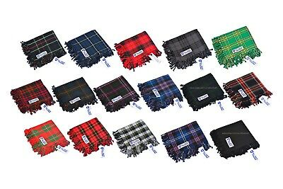 Scottish Men's Kilt Tartan Fly Plaid - 6 Tartans