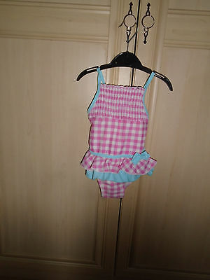 girls frilled swimming costume age 9/12 months by tu