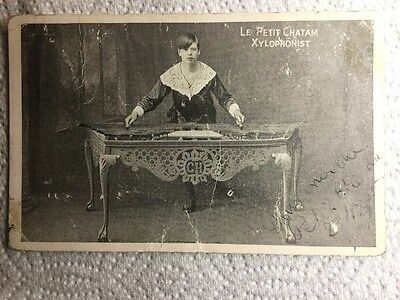 Old Postcard - Le Petit Chatam, Xylophonist, Music