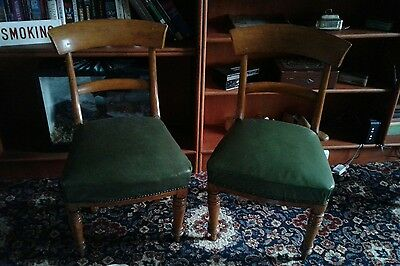 pair of antique / vintage chairs