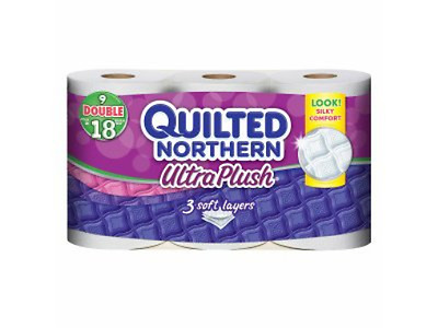 Quilted Northern Ultra Plush Bath Tissue, 9 Double Rolls