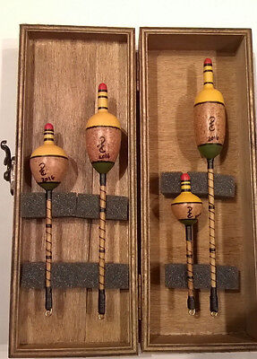 Vintage Style Fishing Floats to go with your Split Cane Rod and Centre Pin Reel