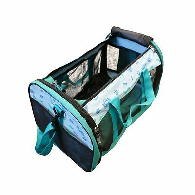 Fold Up Away Collapsible Pet Carrier Bag Cat Small Dog Rabbit Carriers Travel